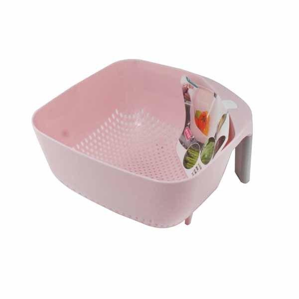 UdiLife生活大師KS3352KS3353美廚方型握把瀝水籃(蔬果籃瀝水籃蔬菜清洗瀝水器握把瀝水方形瀝水籃)