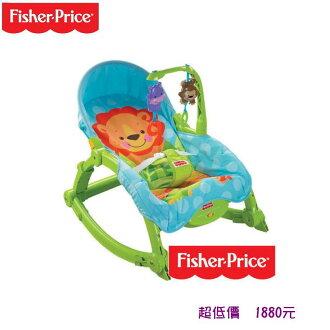 *美馨兒*Fisher-Price 費雪-可愛動物可攜式兩用安撫躺椅1880元