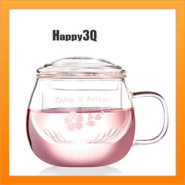 透明水杯茶濾杯花茶杯咖啡杯辦公室圓杯附杯蓋茶葉杯-多款【AAA4580】