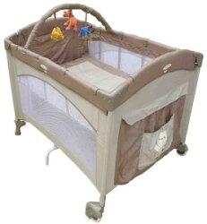 【Babybabe】 拱型遊戲床-半配型 B639-1   (卡其/紅)