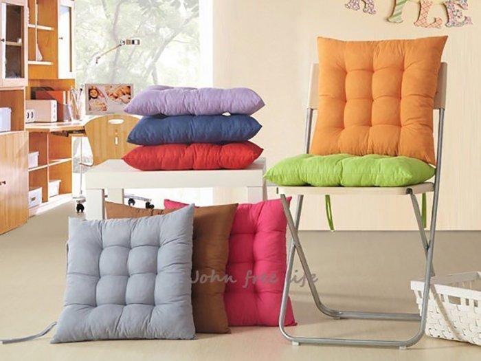 約翰家庭百貨》【TA160】純色柔軟舒適保暖坐墊 沙發墊 辦公室椅墊 汽車坐墊 帶綁帶可固定 9色可選