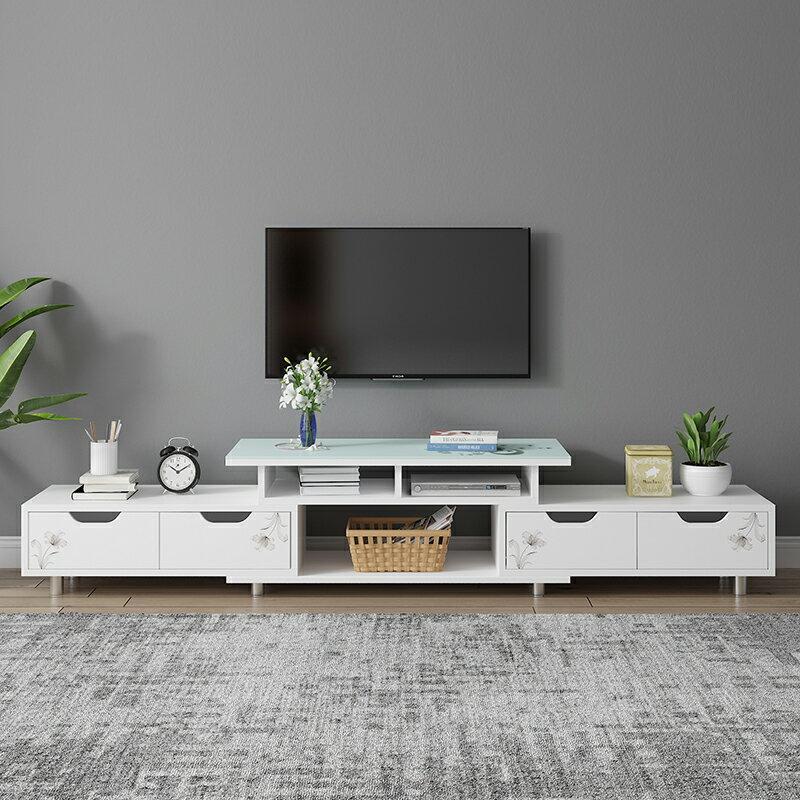 電視櫃茶幾組合北歐小戶型客廳家用臥室簡易小型現代電視機櫃