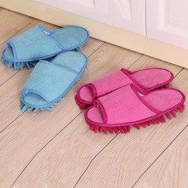 長絨雪尼爾懶人拖鞋 擦地拖鞋 居家家用拖鞋木地板拖鞋夏天-6001004