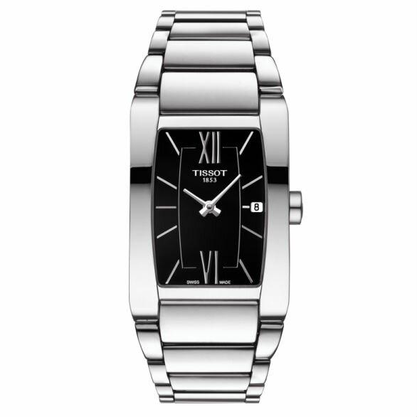 TISSOT天梭T1053091105800GENEROSI-T系列大方經典羅馬腕錶黑27.5x24mm