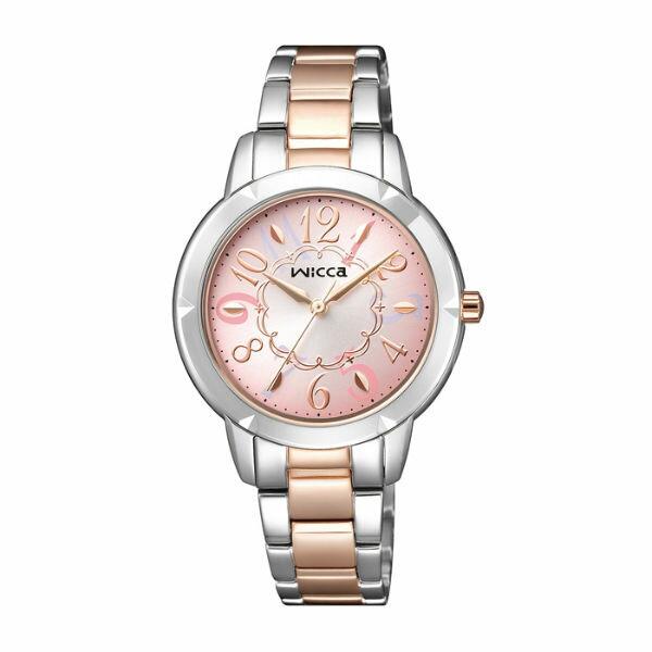 CITIZEN星辰WICCA^(BT2~734~91^)廣告款繽紛 腕錶  粉紅面30mm