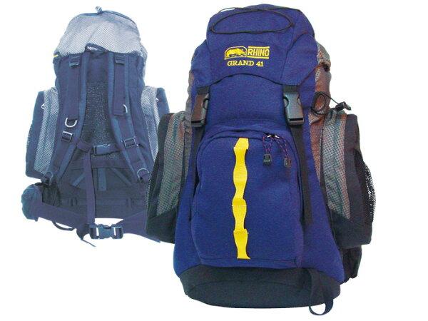 露營趣:【露營趣】中和安坑RHINO犀牛G14141公升超輕塑膠可調式透氣網架背包登山背包短程背包輕裝背包休閒背包旅遊背包