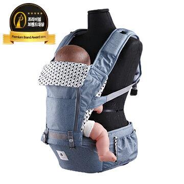 【Pognae】 No.5超輕量機能坐墊型背巾-英國藍