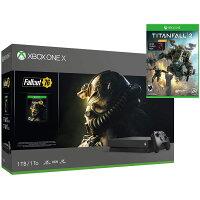 Microsoft Xbox One X 1TB 4K Console Fallout 76 &Titanfall 2 with Nitro DLC Gaming Bundle - Black