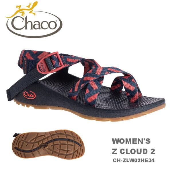 【速捷戶外】美國ChacoZCLOUD越野紓壓運動涼鞋女款CH-ZLW02HE34-夾腳(潛隱日蝕),戶外涼鞋,運動涼鞋