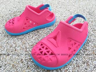 Shoestw【BD3689】Reebok 童鞋 涼鞋 防水 護趾 鬆緊帶 粉紅 水藍 小童