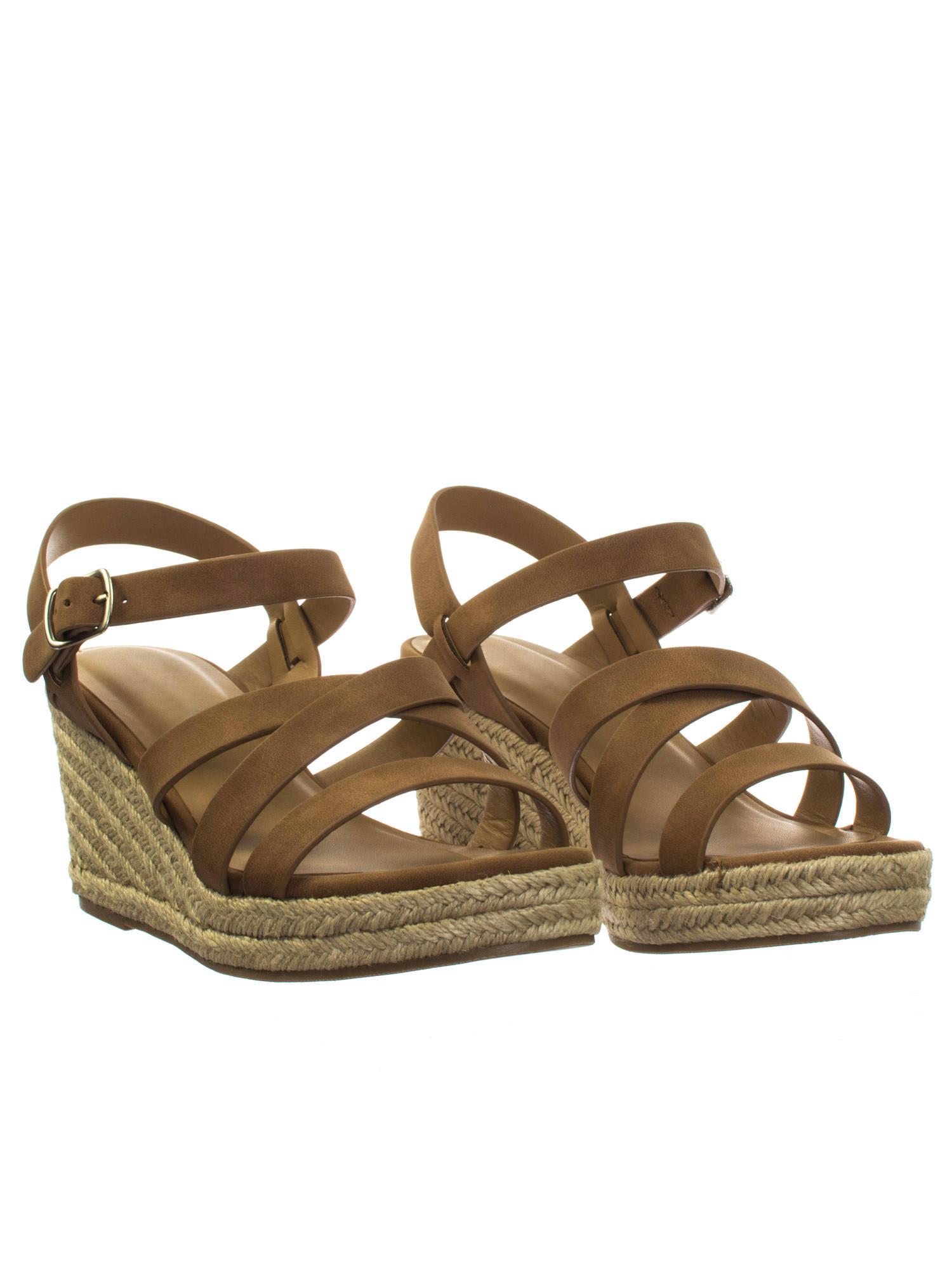 a8108f64214 Jubilee Tan Brown by City Classified Espadrille Rope Jute Wrap Platform  Wedge Open Toe Dress Sandal