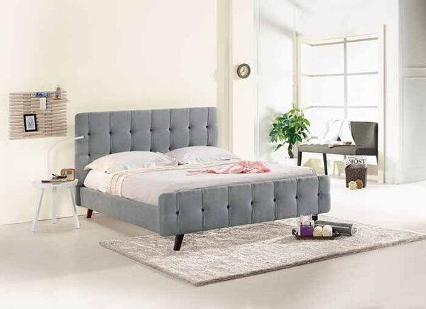 【尚品傢俱】CM-151-4艾美5尺雙人床(灰布,另有6尺)