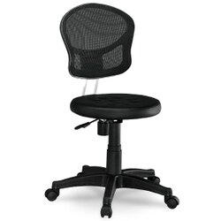 小巧黑色網布電腦椅/辦公椅 / H&D / 日本MODERN DECO