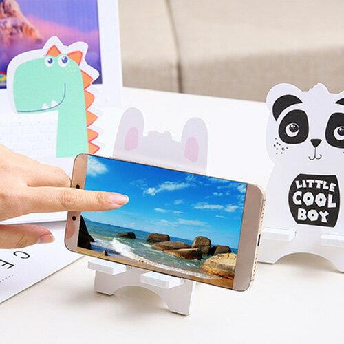 卡通創意兩件式組裝手機支架 可愛手機座 平板架 便攜式桌上手機支架