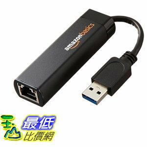 [106美國直購] AmazonBasics USB 網路適配器 3.0 to 10/100/1000 Gigabit Ethernet Adapter