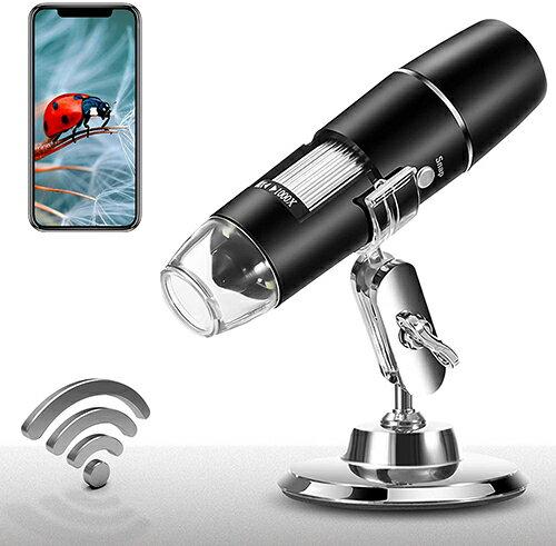 [2美國直購] Wireless 顯微鏡 Digital Microscope 1X-1000X 1080P Handheld Portable Mini WiFi USB Microscope Camera with 8 LED Lights for iPhone/iPad/Smartp..