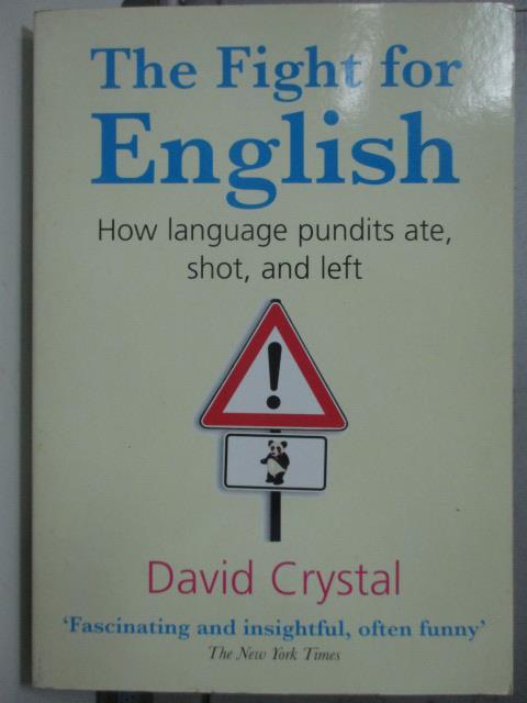 ~書寶 書T3/原文小說_ODL~The Fight for English_David
