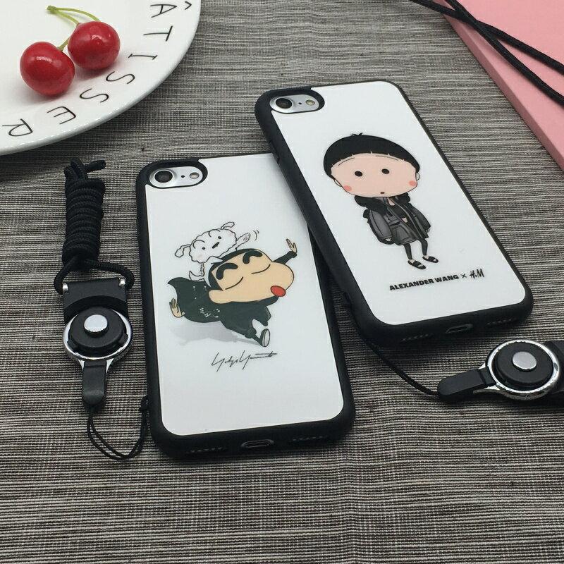 IPHONE8 IPHONE7 韓國 蠟筆小新 小丸子 軟邊手機殼 全機保護 不傷手機 帶掛繩孔