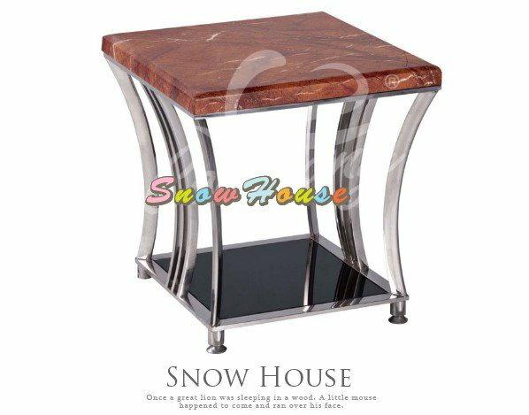 ╭☆雪之屋居家生活館☆╯989-10 025大理石面方型茶几/茶桌/置物桌