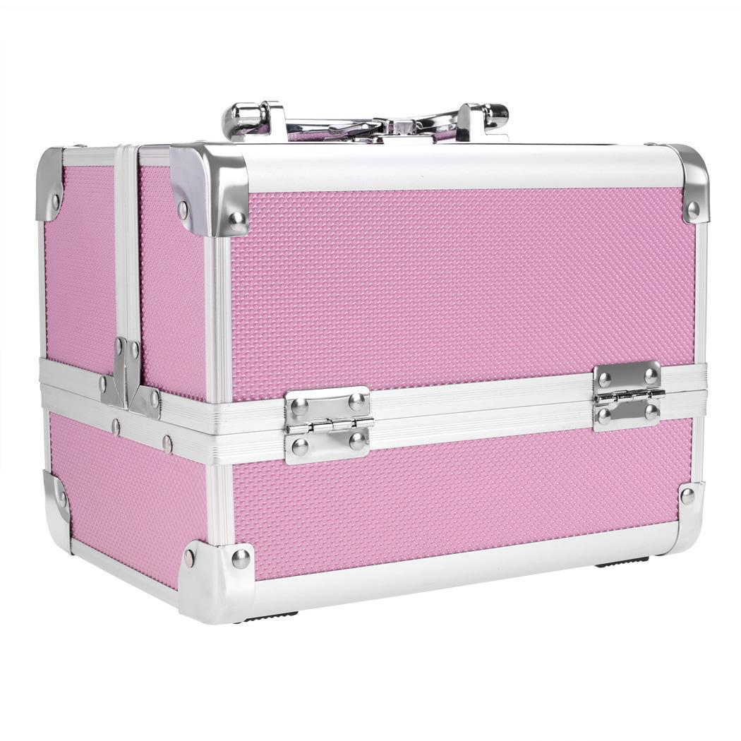 Lockable Makeup Travel Case Jewelry Box 0