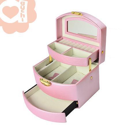 【Aguchi 亞古奇】皇家風範-優雅粉袖珍版 珠寶盒(氣質貴族系列) 1