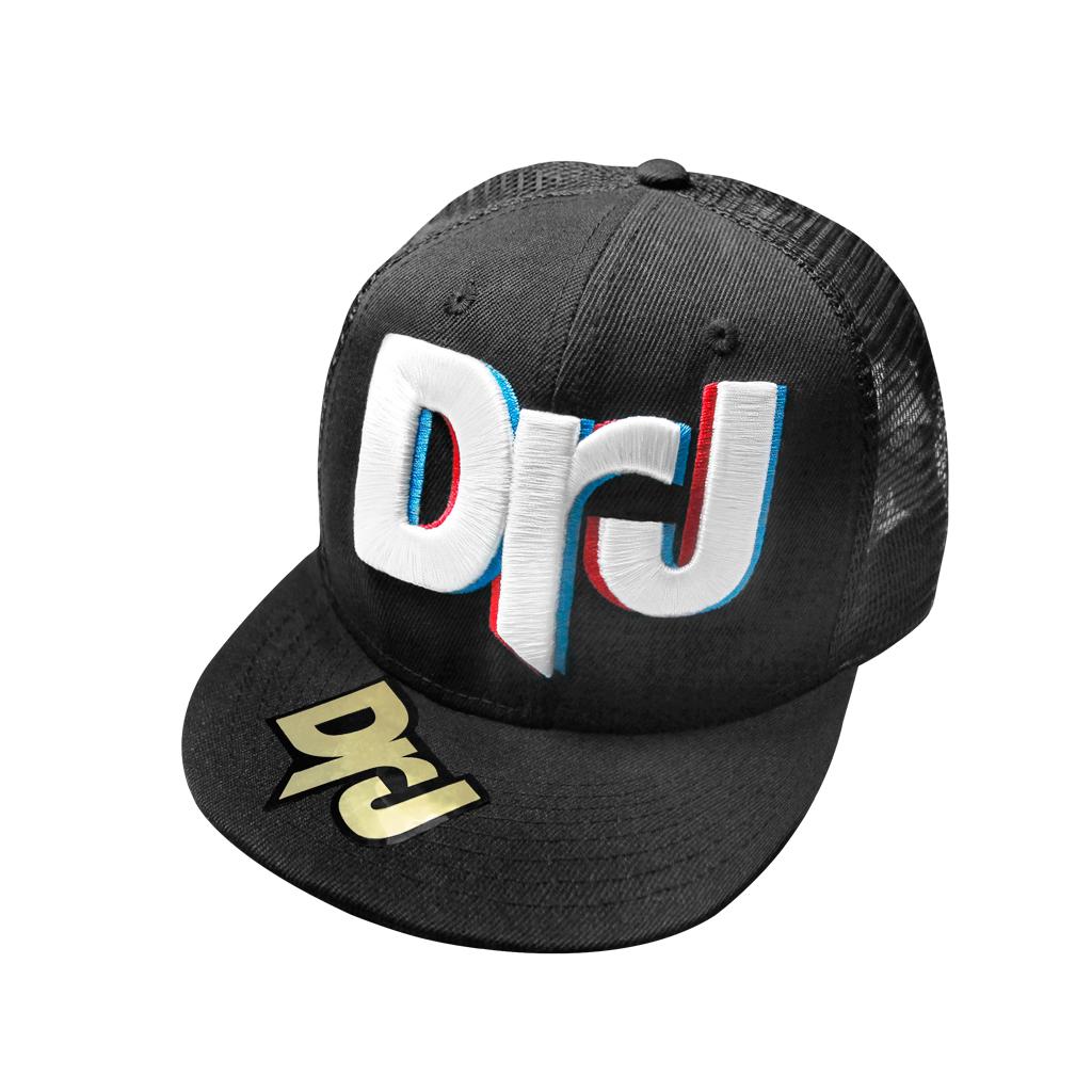 DrJ 電繡3D DrJ網帽 黑色