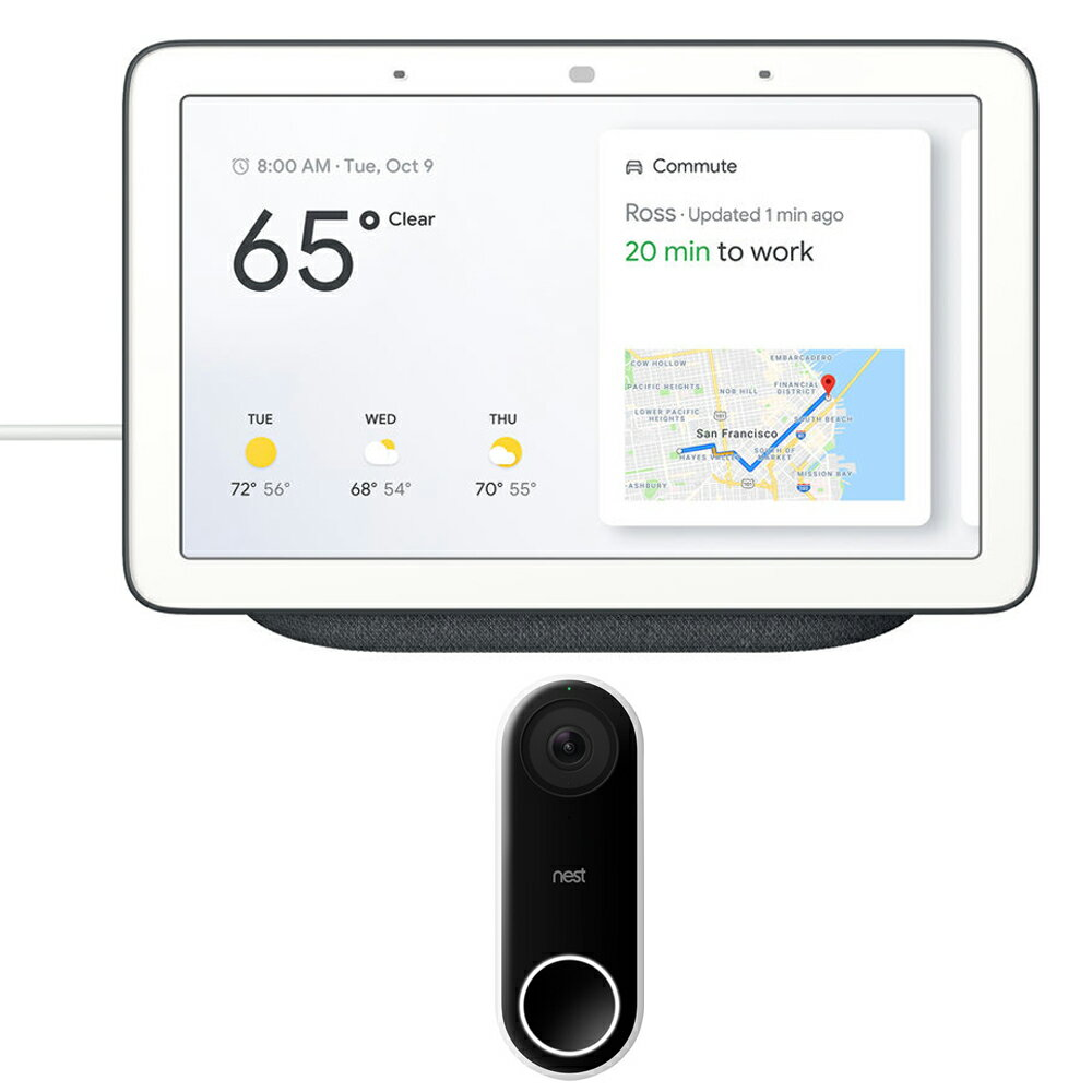 Nest Smart Wi-Fi HD Video Doorbell + Google Home Hub