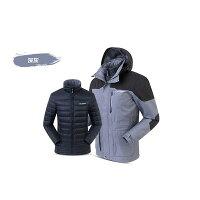 保暖推薦男羽絨外套推薦到《台南悠活運動家》SUMMIT BL201 男款三合一羽絨發熱外套-深灰就在悠活運動家推薦保暖推薦男羽絨外套