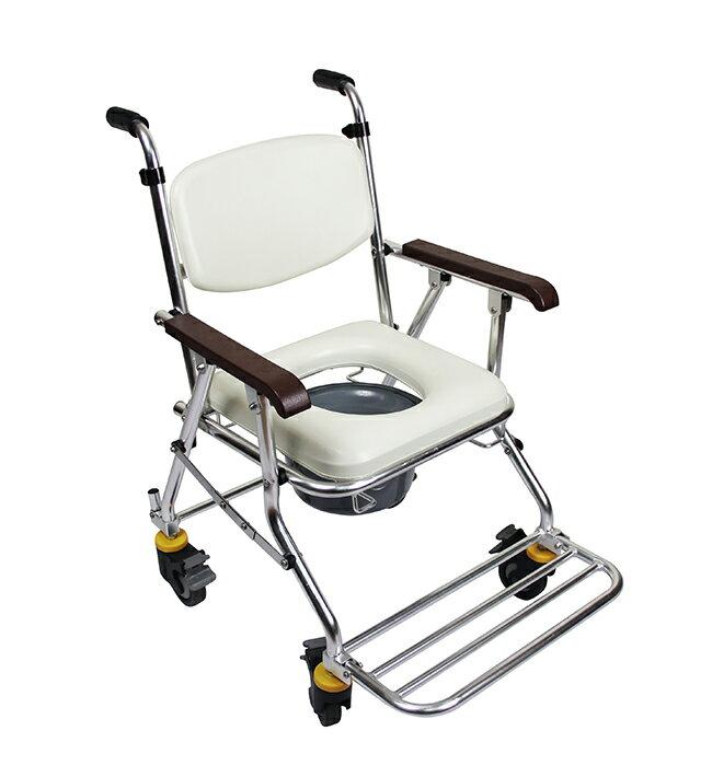 均佳 鋁合金有輪可收便器椅 JCS-208