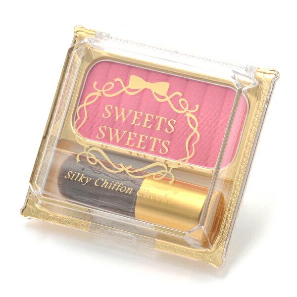 SWEETS SWEETS 絲柔戚風頰彩-01小紅莓 5g (附腮紅刷1支)