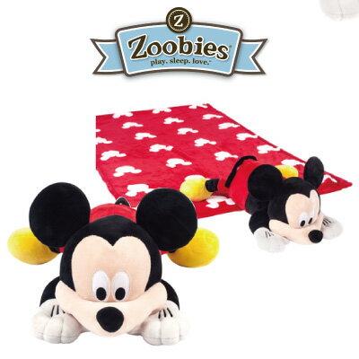 美國 Zoobies 三合一多功能玩偶毯/毯子/毛毯【正版授權】- 米奇 Mickey (禮盒裝)