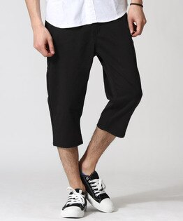 七分錐形褲BLACK
