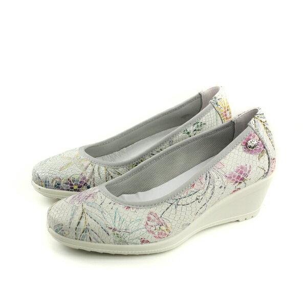IMAC厚底鞋包鞋義大利製白色花朵女鞋105632.16085.001no022