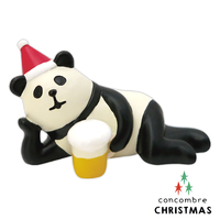 送家人聖誕交換禮物推薦聖誕禮物抱枕及靠枕到Decole 聖誕節公仔 - 側躺喝啤酒的熊貓 Concombre ( ZXS-26339 ) 現貨 推薦聖誕交換禮物 聖誕布置推薦就在文五雙全x文具五金生活館推薦送家人聖誕交換禮物