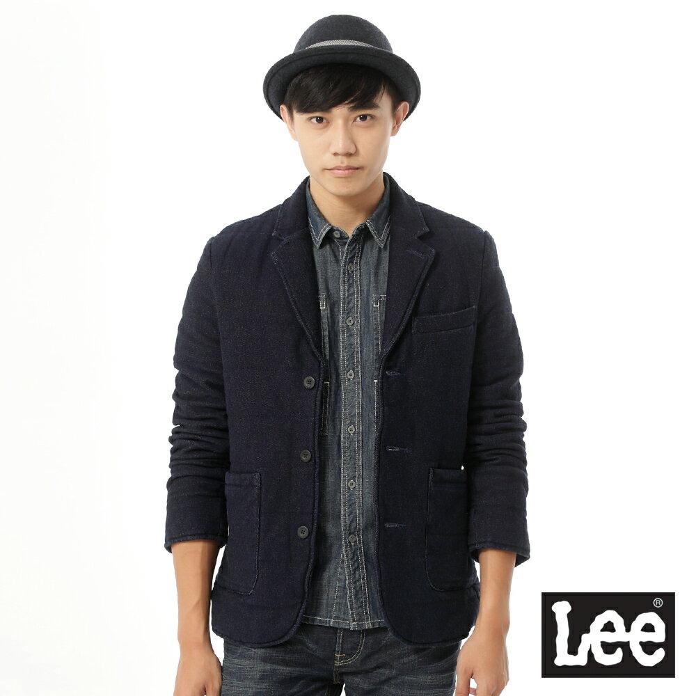 【上衣↘3折】LEE 鋪棉休閒式西裝外套Urban Riders系列-男款-藍色├【1011-1020】單筆消費滿$1500結帳輸入序號『DENIM150』最高折$300┤