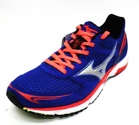 買就送束口袋]美津濃MIZUNO 輕量 高抓地力 耐磨 馬拉松  女 路跑鞋 WAVE