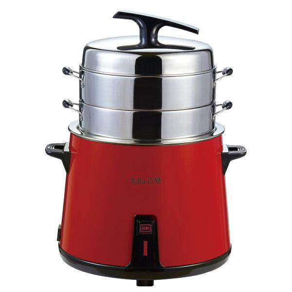 BiBa百變專利多層304不鏽鋼多功能養生蒸汽電鍋-紅【TB-10R】(BMTB10R)