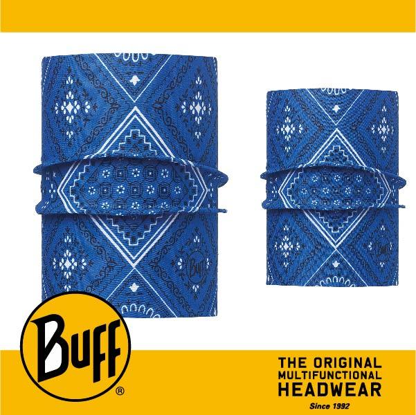 BUFF 西班牙魔術頭巾 寵物頭巾系列 BF113119-707-20 寵物經典頭巾 S/M 旅人藍紋 萬特戶外運動