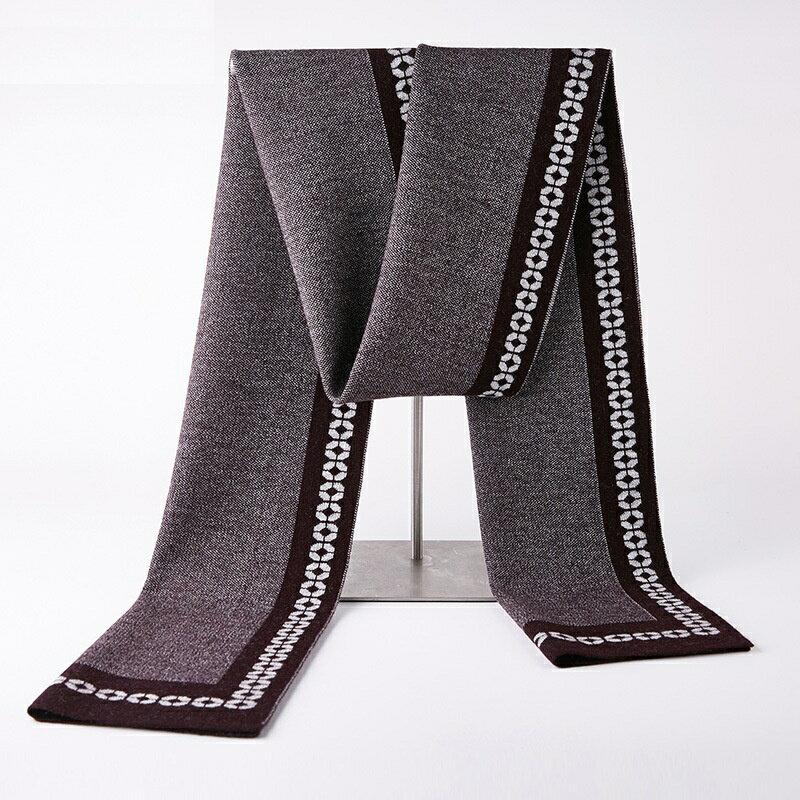 圍巾羊毛披肩-拼色商務簡約針織男配件4色73wh31【獨家進口】【米蘭精品】