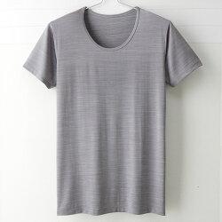 【MIGER密格內衣】型男涼爽吸排好觸感圓領短袖衫。可呼吸超細纖維(紳士灰)-台灣製-(編號:FA38603)