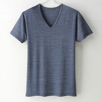【MIGER密格內衣】型男涼爽吸排好觸感V領短袖衫。可呼吸超細纖維(時尚藍)-台灣製-(編號:FA38611)