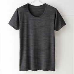 【MIGER密格內衣】型男涼爽吸排好觸感圓領短袖衫。可呼吸超細纖維(尊爵黑)-台灣製-(編號:FA38602)