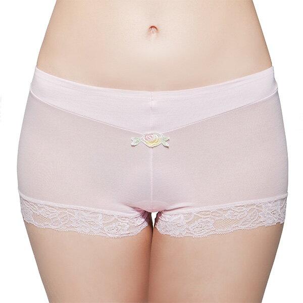【MIGER密格內衣】玫瑰蕾絲中低腰平口內褲-台灣製-(編號:8368)