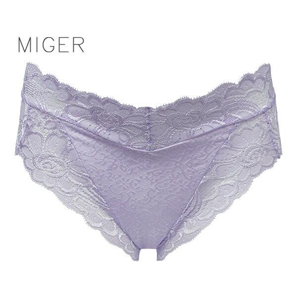 【MIGER密格內衣】完美女人蕾絲中腰三角內褲(此款尺寸偏大)-台灣製-(編號:8222)