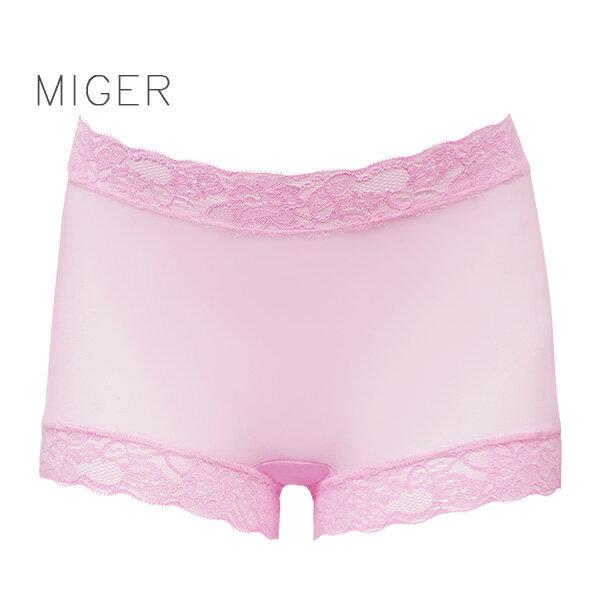 【MIGER密格內衣】薄紗蕾絲中腰平口內褲-台灣製-(編號:8616)