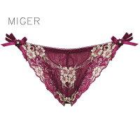 【MIGER密格內衣】鏤空蕾絲網紗性感中低腰三角褲-台灣製-(編號:8621) 0