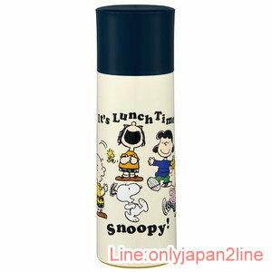 【真愛日本】17040100019 超輕量保溫冷水壺360ml-SN全人物米 史奴比 史努比 SNOOPY 水壺 茶壺 水瓶