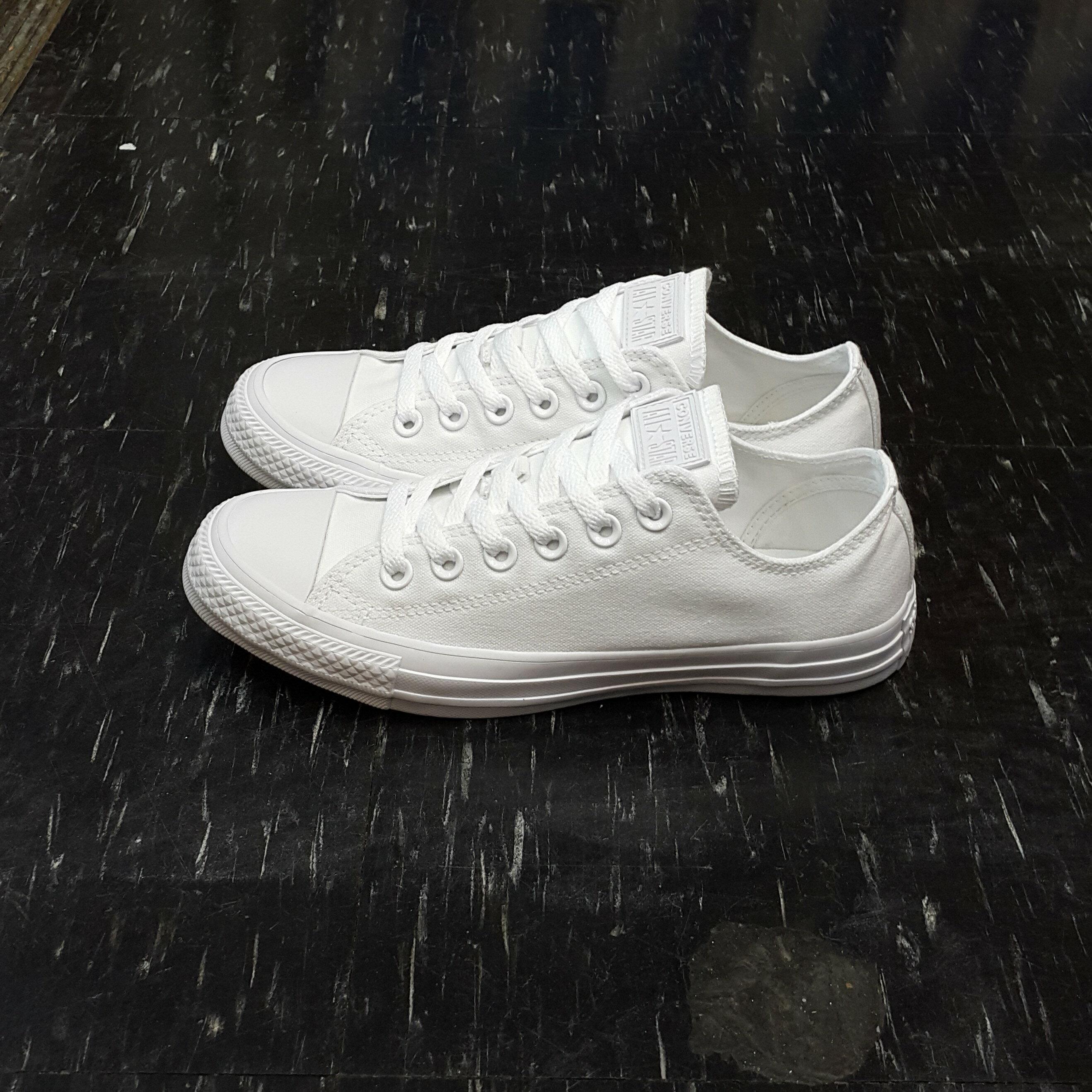 Converse Chuck Taylor All Star Seasonal 白色 全白 帆布 小白鞋 基本款 低筒 1U647