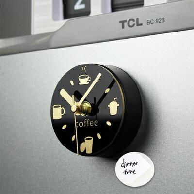 創意磁鐵冰箱鐘 咖啡休閒吸粘掛鐘十天預購+現貨