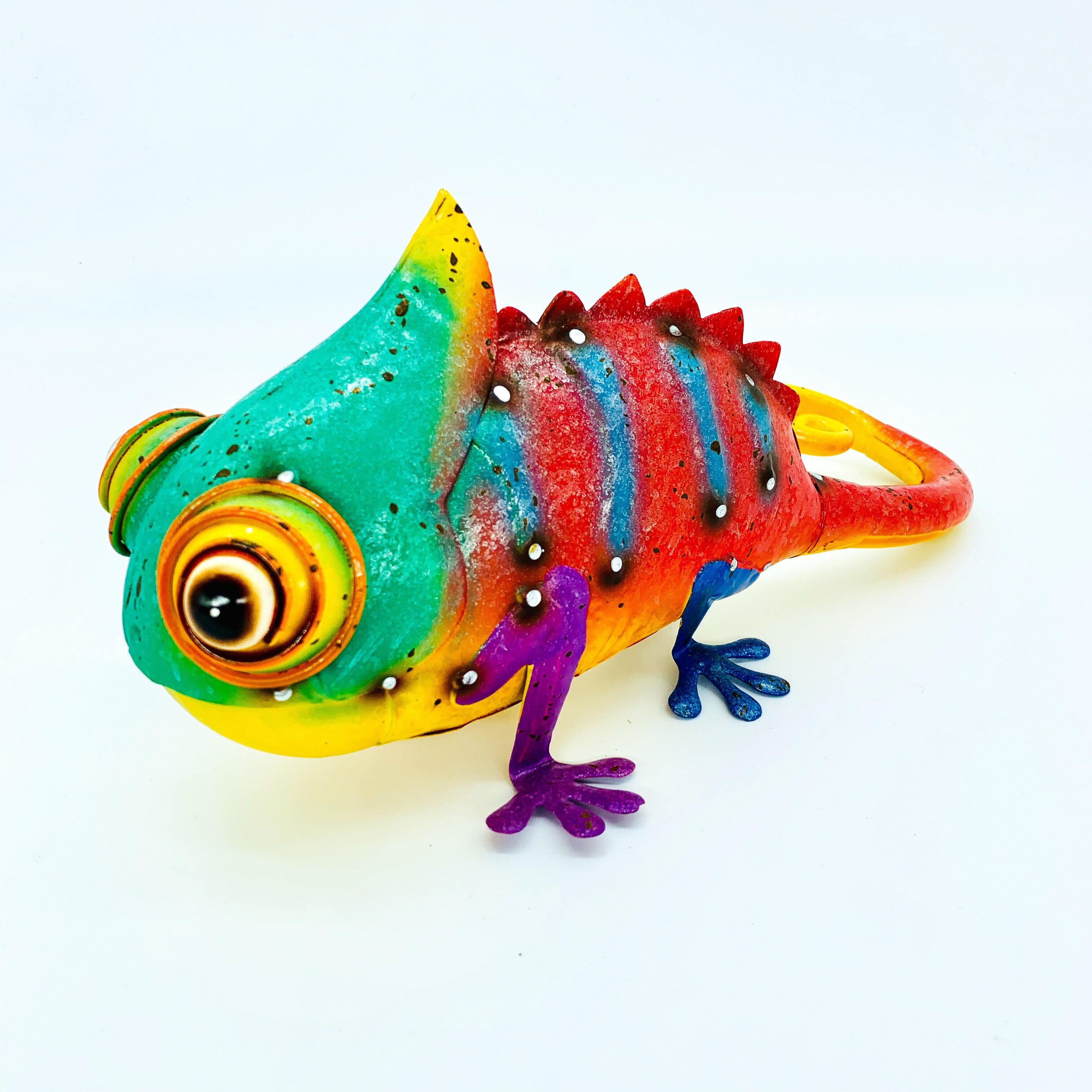 日本高山 絕版品限量供應 動物擺飾 繽紛變色龍 日本直送 日本設計 生鐵手作可愛多采風格擺飾 不會再有 把握機會 0